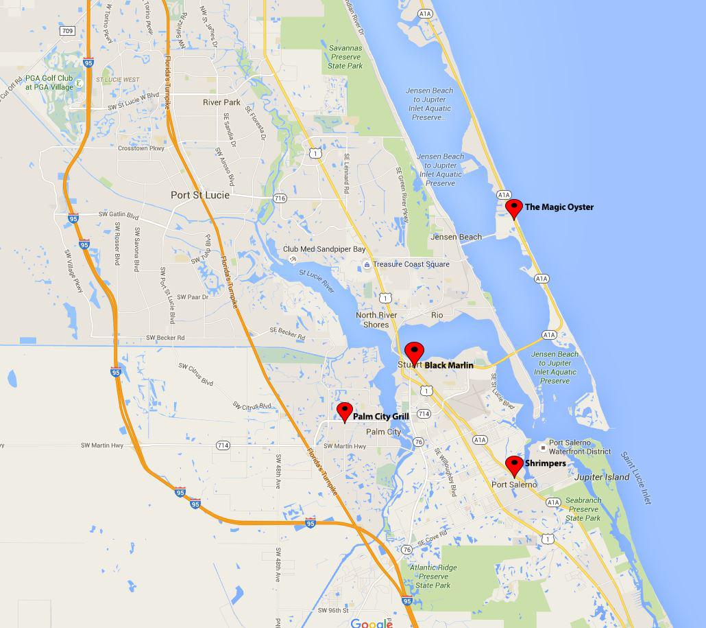 East Coast Map Location